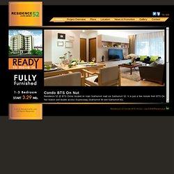 Condo Residence52 ใกล้ รถไฟฟ้า bts อ่อนนุช (Sukhumvit 52)