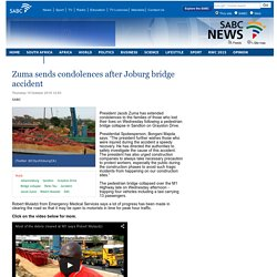 Zuma sends condolences after Joburg bridge accident:Thursday 15 October 2015