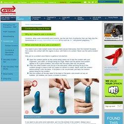 Condom Use, Types & Sizes