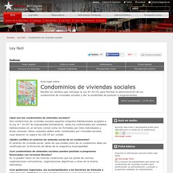 Condominios de viviendas sociales - Ley fácil - Biblioteca del Congreso Nacional de Chile