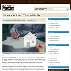 What is Condominium Insurance and How to Claim