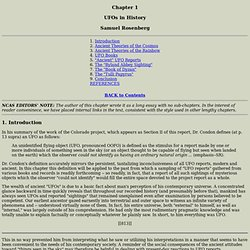 Condon Report, Sec 5, Chapter 1: UFOs in History