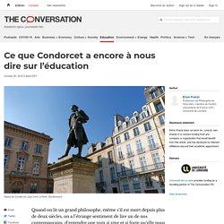 Ce que Condorcet aencore ànous dire surl'éducation