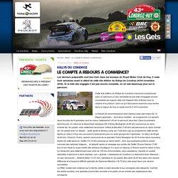 Rallye du Condroz-Huy - Le compte à rebours a commencé…
