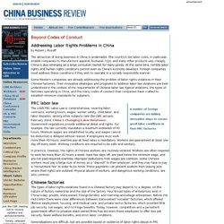 Beyond Codes of Conduct: Addressing Labor Rights Problems in China -- CBR Mar-Apr 2004
