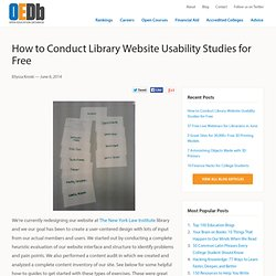How to Conduct Library Website Usability Studies for Free