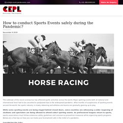 How to conduct Sports Events safely during the Pandemic? - Countrywide