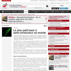 Le plus petit laser à semi-conducteur au monde