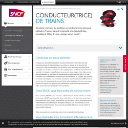 Conducteur de train (h/f)