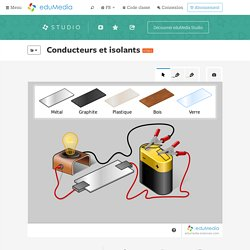 Conducteurs et isolants – simulation, animation interactive