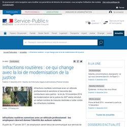 Conducteurs -Infractions routières: ce qui change avec la loi de modernisation de la justice