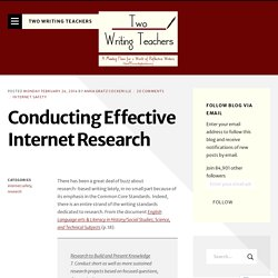 Conducting Effective Internet Research