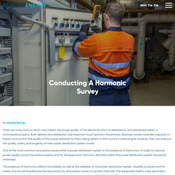 Conducting A Harmonic Survey - Quality Energy