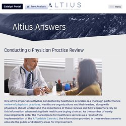 Conducting a Physician Practice Review