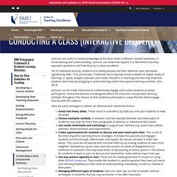 Conducting a Class (Interactive Delivery)