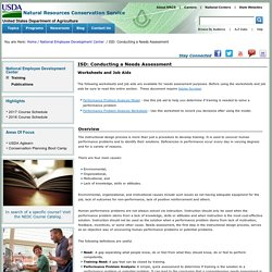 ISD: Conducting a Needs Assessment