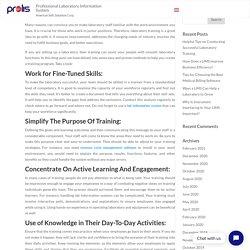 Helpful Tips on Conducting Successful Laboratory Training