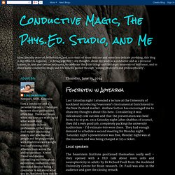 Conductive Magic, The Phys.Ed. Studio, and Me: Feuerstein in Aotearoa