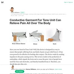 Conductive Garment For Tens Unit Can Relieve Pain All Over The Body