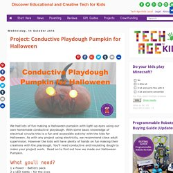 Project: Conductive Playdough Pumpkin for Halloween