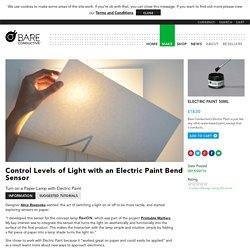 Control Levels of Light with an Electric Paint Bend Sensor - Bare ConductiveBare Conductive