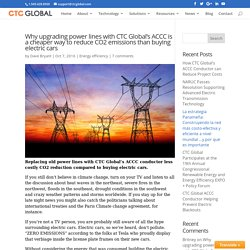 CTC Global's ACCC conductor less costly CO2 reduction than electric cars