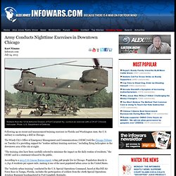 » Army Conducts Nighttime Exercises in Downtown Chicago Alex Jones