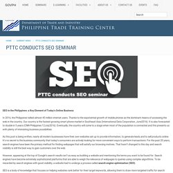 PTTC Conducts SEO Seminar | Philippine Trade Training Center