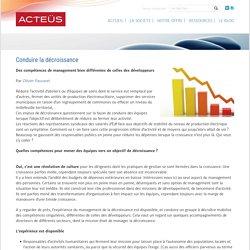Conduire la décroissance - ACTEUS