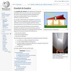 Wikipédia - Conduit de lumière