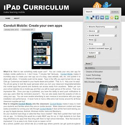 Conduit Mobile: Create your own apps