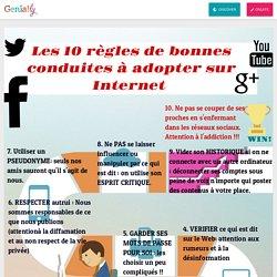LES 10 REGLES DE BONNE CONDUITE SUR INTERNET (5e4) by coquillard.isa on Genially