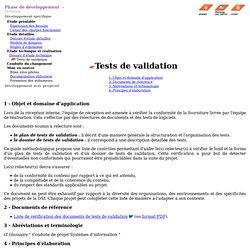 DSI - Conduite de projet - Tests de validation