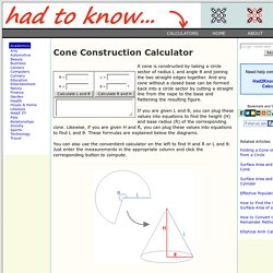 Cone Construction Calculator