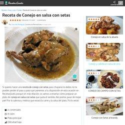 Conejo en salsa con setas - Fácil