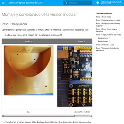 Montaje y conexionado - Semáforo óptico-acústico de CO2