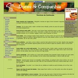 Técnicas de confecção, segredos, truques, dicas, conselhos, cozinha, culinária - Doces & Companhia