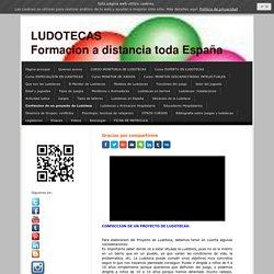 Confeccion de un proyecto de Ludoteca - Cursos a distancia de Ludotecas y Juegos
