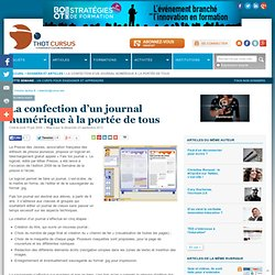 La confection d'un journal numérique à la portée de tous