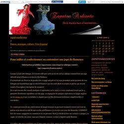 Pour tailler et confectionner ou customiser une jupe de flamenco - zapatosardientes