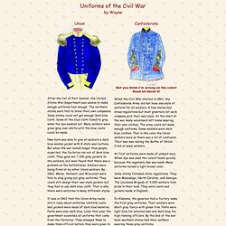 Union & Confederate Officer's Jackets