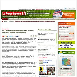 Prix du lait : la Confédération paysanne veut que les pouvoirs publics interviennent - Actualités - La France Agricole, toute l agriculture et l information agricole