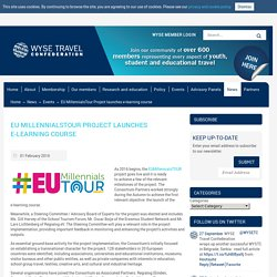 WYSE Travel Confederation » EU MillennialsTour Project launches e-learning course