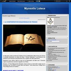 15/06/2013 Confédération Maçonnique de France