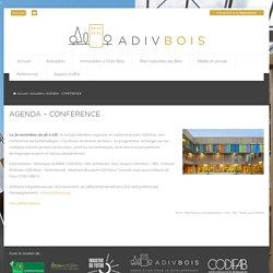 AGENDA - CONFÉRENCE - ADIVbois - Immeubles à Vivre Bois
