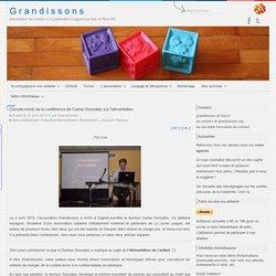 Compte-rendu de la conférence de Carlos González sur l'alimentation