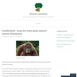 Conférence : tous les trucs pour sauver moins d'animaux