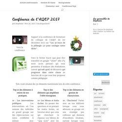 Conférence de l'AQEP 2017
