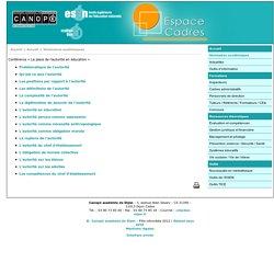 Conférence « La place de l'autorité en éducation » - Canopé académie de Dijon