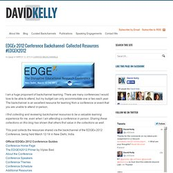 EDGEx 2012 Conference Backchannel: Collected Resources #EDGEX2012